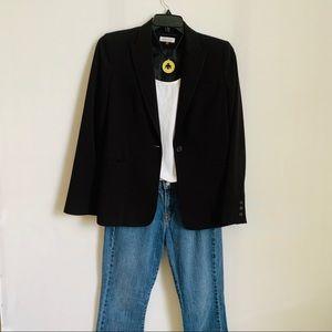 Calvin Klein One-Button Ladies Black Blazer